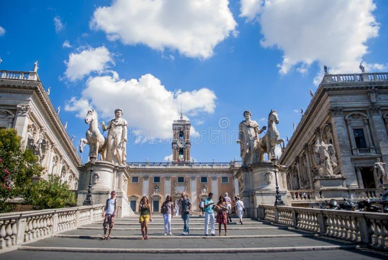 La collina di Capitoline roma L'Italia fotografia stock