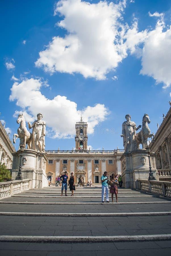 La collina di Capitoline roma L'Italia immagini stock libere da diritti