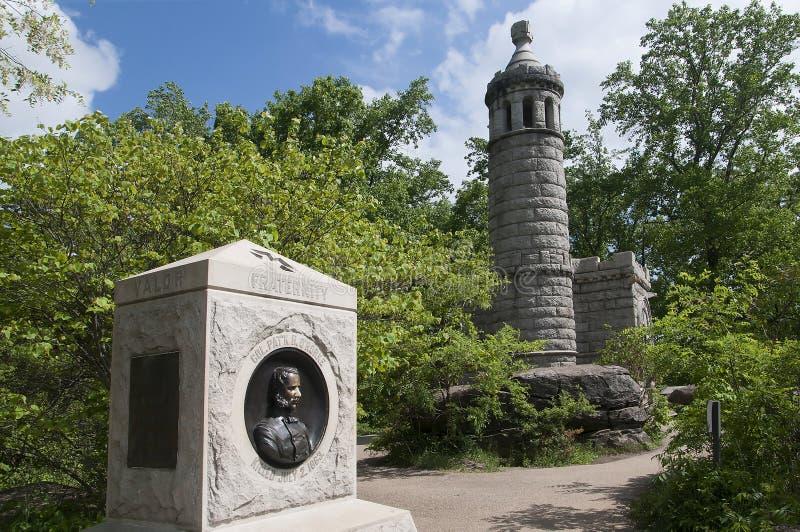 La collina sopra il campo di battaglia di Gettysburg immagine stock libera da diritti