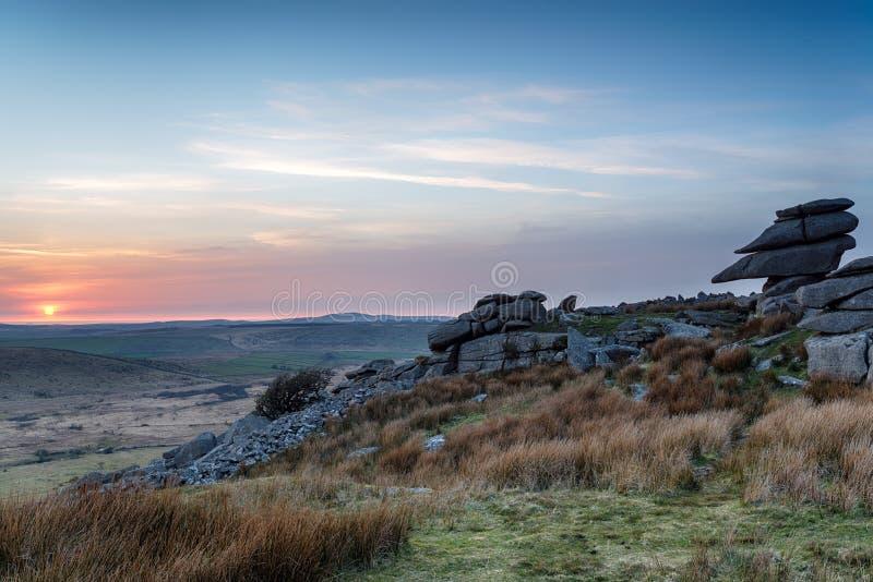 La colline de Stowes sur Bodmin amarrent image libre de droits