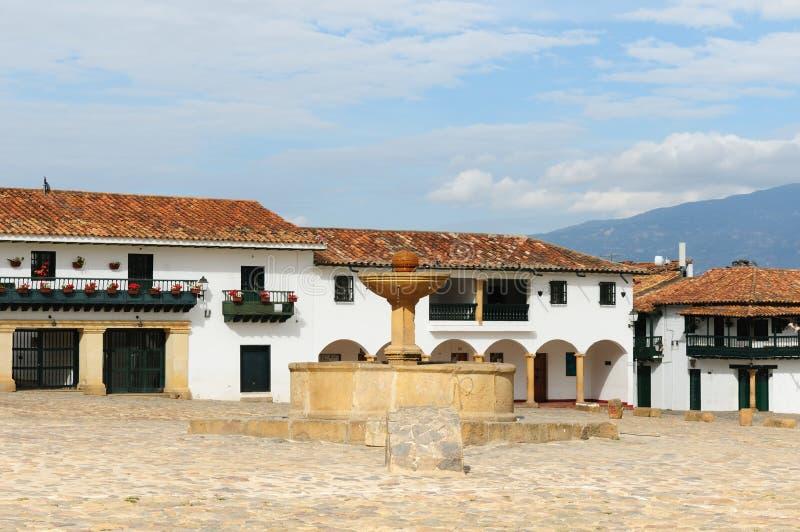 La Colombia, architettura coloniale di Villa de Leyva fotografia stock libera da diritti