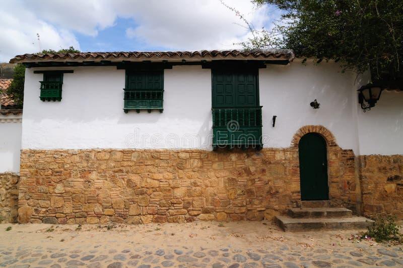 La Colombia, architettura coloniale di Villa de Leyva immagini stock