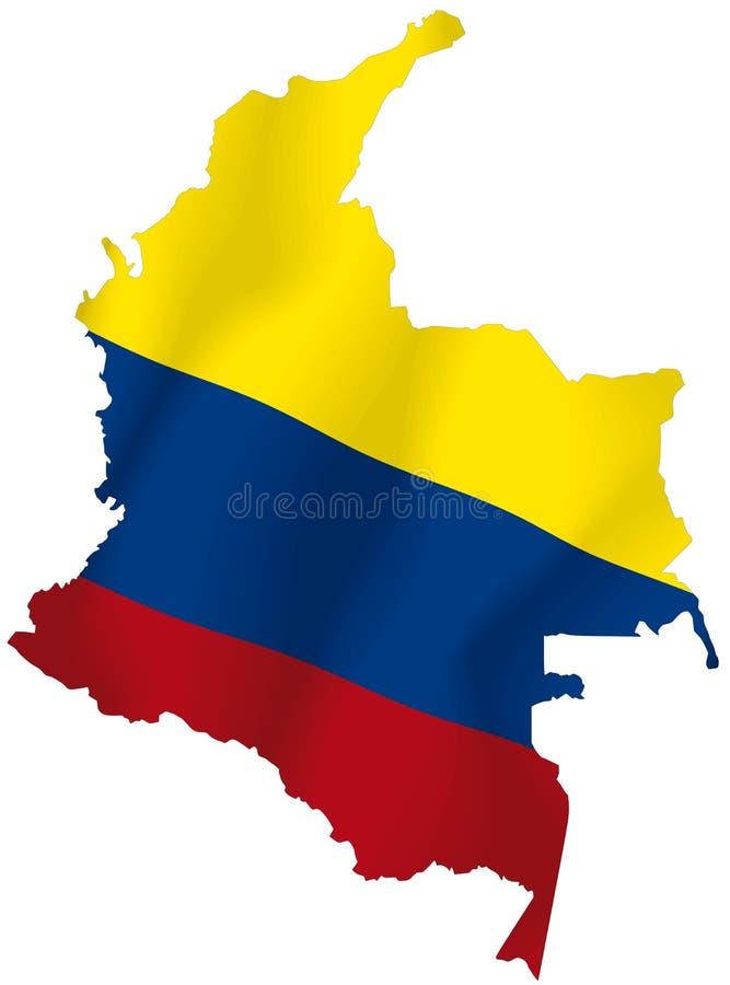 La Colombie illustration de vecteur