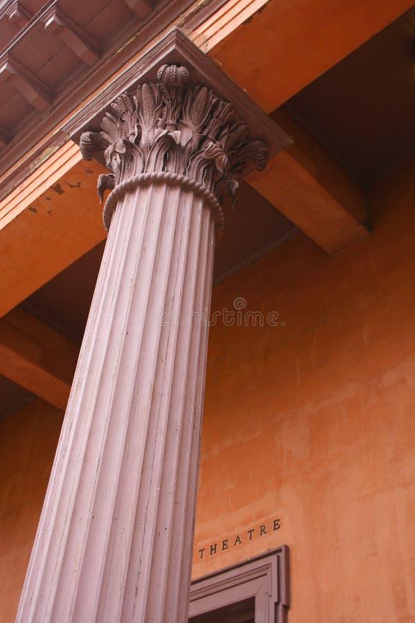 La colonna del teatro fotografia stock