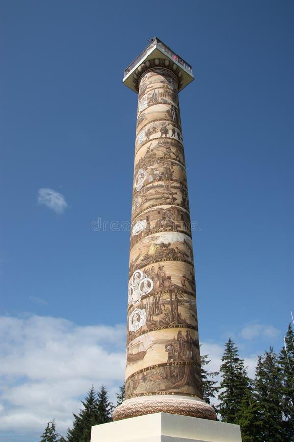 La colonna di Astoria in Astoria, Oregon fotografia stock