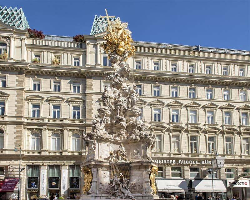 La colonne de peste ou colonne de trinité, Vienne, Autriche images libres de droits