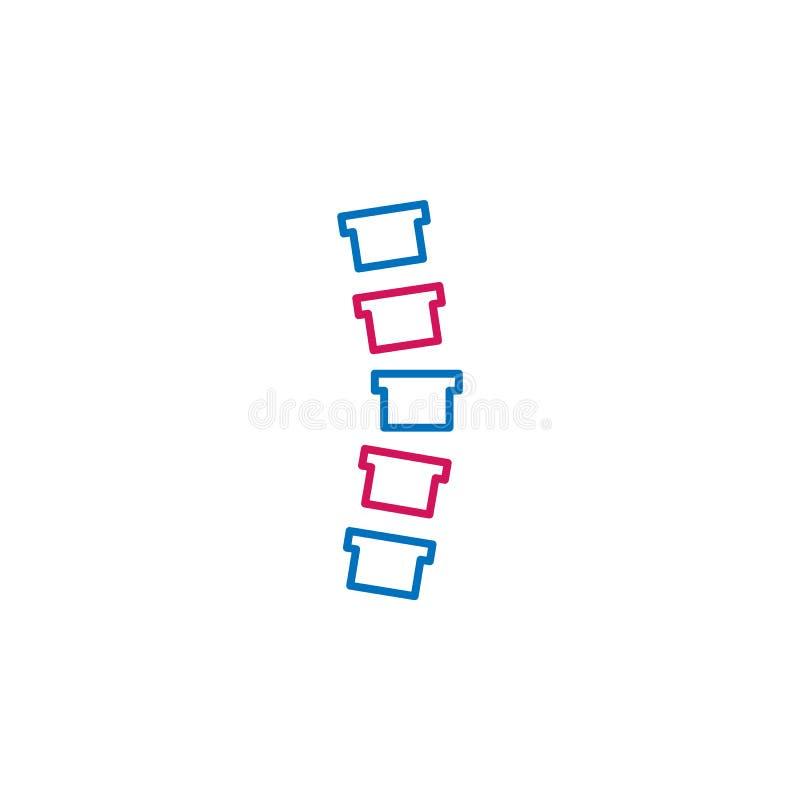 La colonne médicale et vertébrale a coloré l'icône Élément d'illustration de médecine Des signes et l'icône de symboles peuvent ê illustration de vecteur