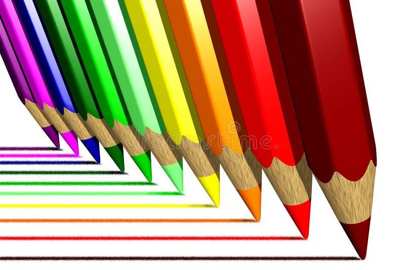 La Coloration Crayonne (3D) Photographie stock
