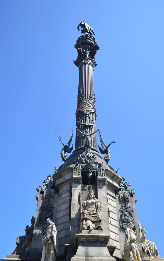 La columna de Columbus en Barcelona. imágenes de archivo libres de regalías