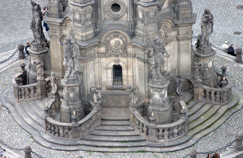 La columna de la trinidad santa en Olomouc (detalle) imagen de archivo