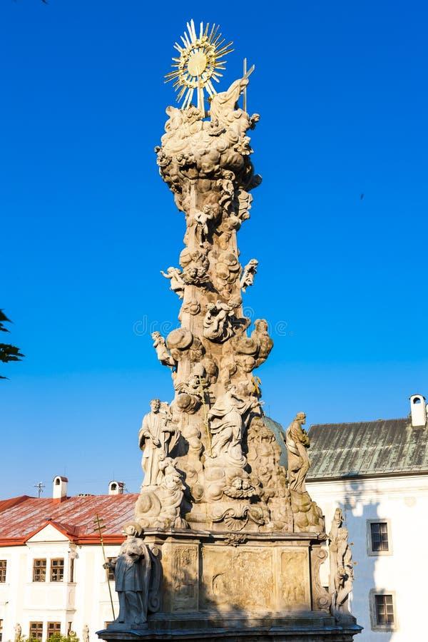 la columna de la plaga, cuadrado de Stefanik, Kremnica, Eslovaquia imagen de archivo libre de regalías