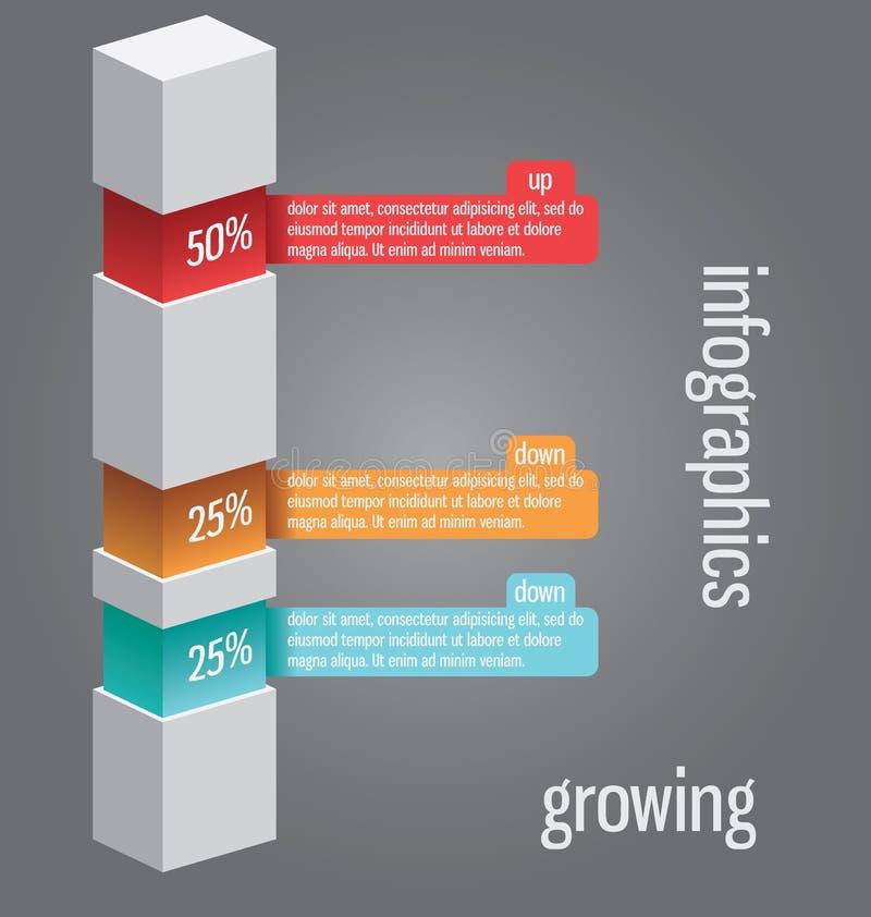 La columna le gusta el diagrama, se puede utilizar para el infographics, elem de los sitios web libre illustration