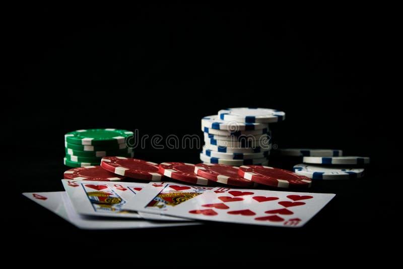 La combinación de póker de los naipes fotografía de archivo
