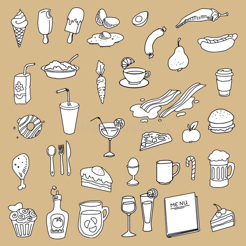 La comida, cocina relacionó artículos libre illustration