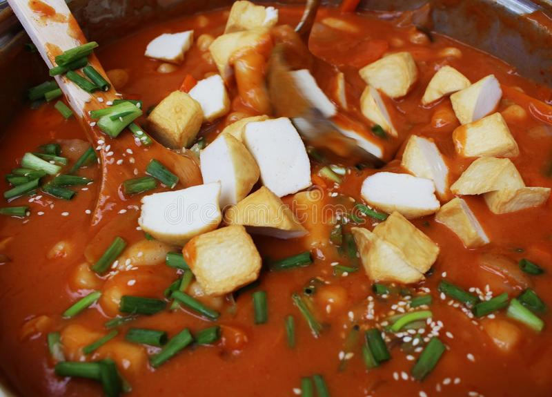 La comida coreana imagen de archivo