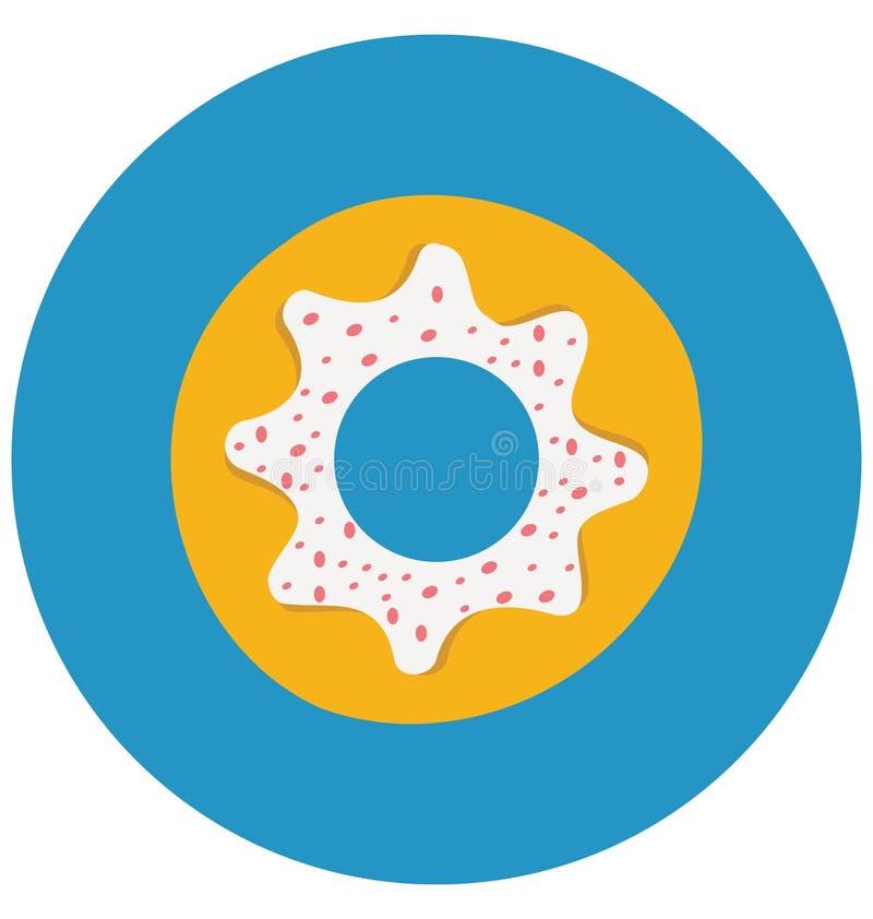 La comida de la panadería, confitería aisló el icono del vector del color que puede ser modificado o corregir fácilmente stock de ilustración