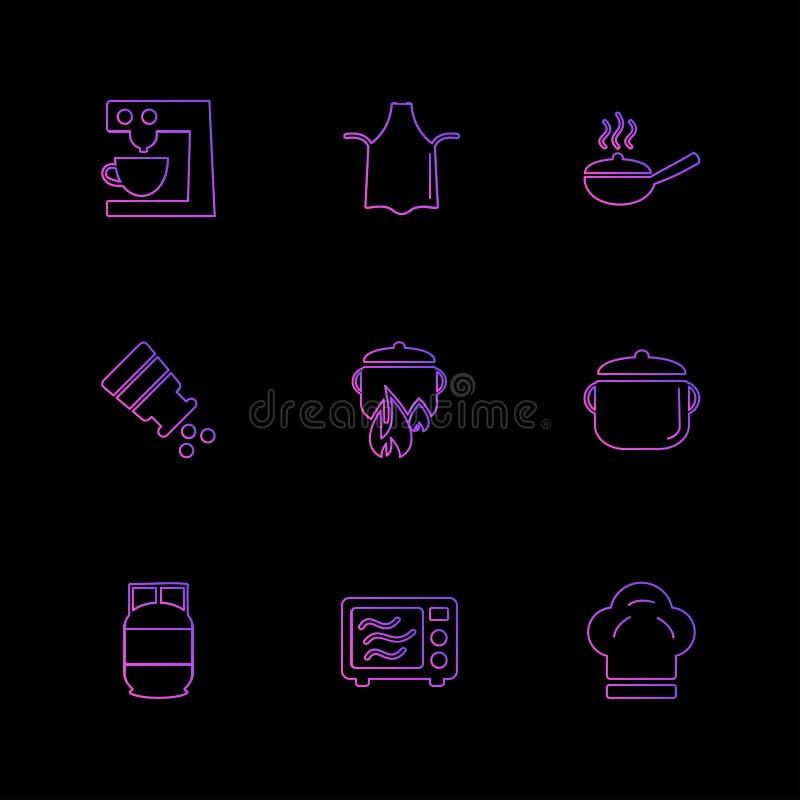la comida, salud, sana, comida, bebidas, iconos del EPS fijó vector stock de ilustración