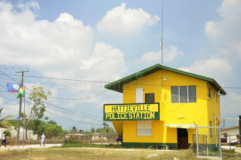 La comisaría de policías en Hattieville imagen de archivo libre de regalías