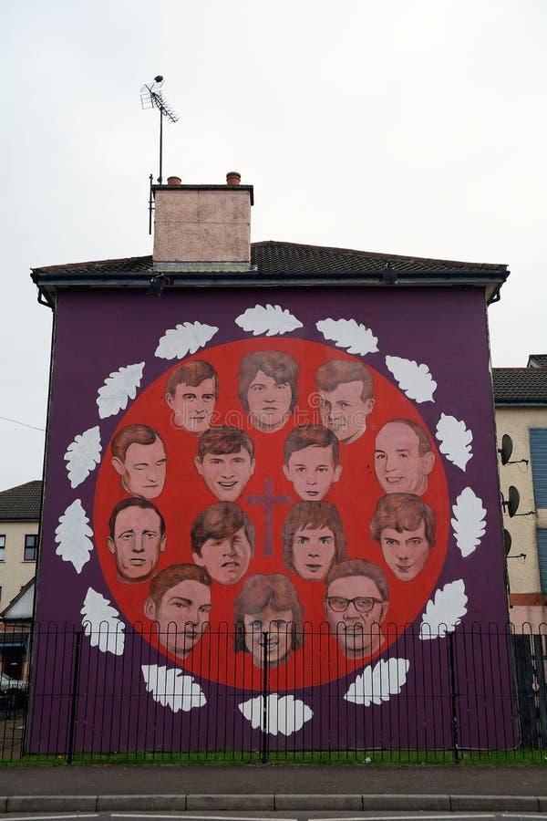 La commémoration ensanglantée de dimanche, Derry, Irlande du Nord photo libre de droits