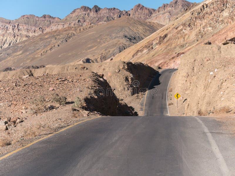 La commande de l'artiste, Death Valley image libre de droits
