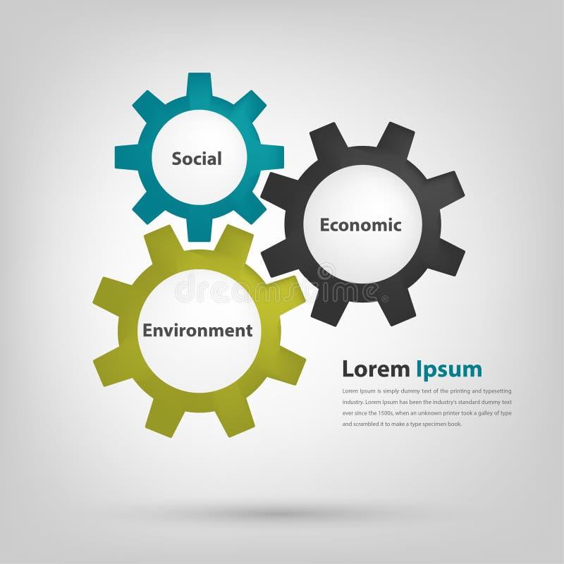la commande de 3 vitesses représentent le bon gouvernement corporatif illustration libre de droits