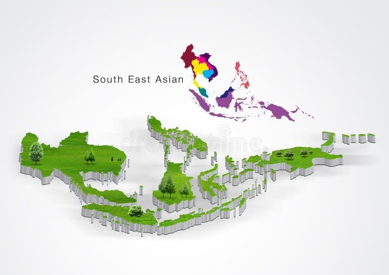 La communauté économique d'ASEAN, l'AEC illustration stock