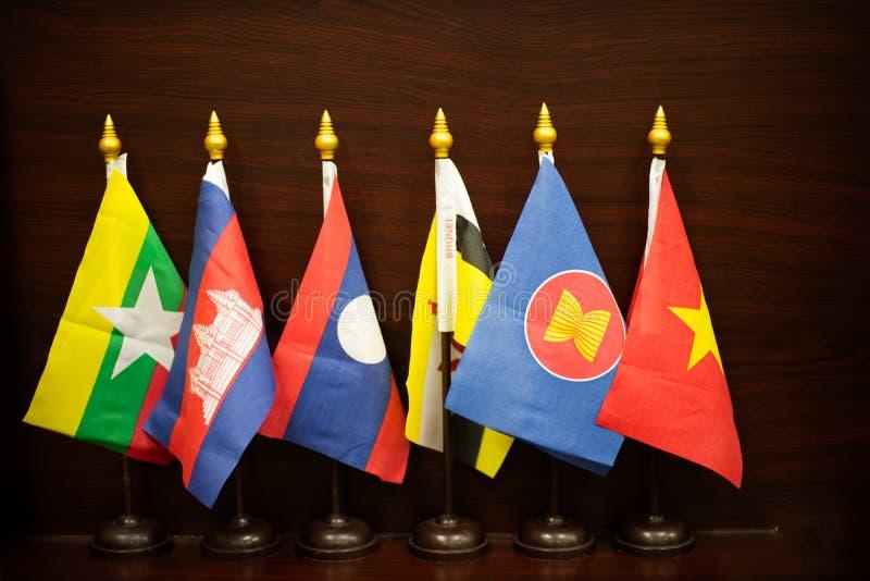 La communauté asiatique du sud-est de drapeau image libre de droits