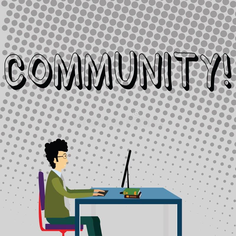 La Communauté des textes d'écriture Concept signifiant l'homme d'affaires de groupe d'unité d'Alliance d'affiliation d'état d'ass illustration libre de droits