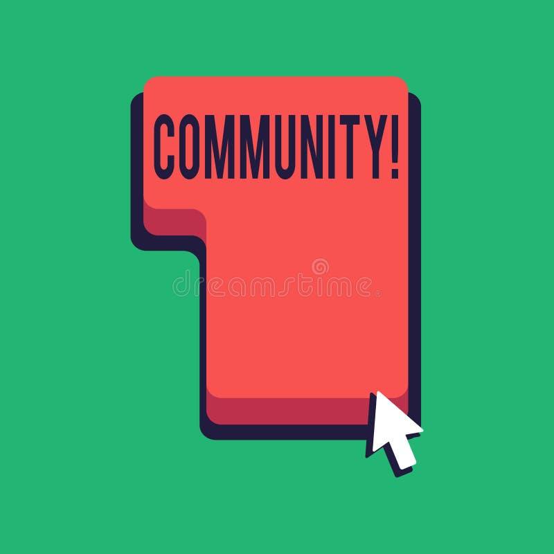 La Communauté des textes d'écriture de Word Concept d'affaires pour le groupe d'unité d'Alliance d'affiliation d'état d'associati illustration libre de droits