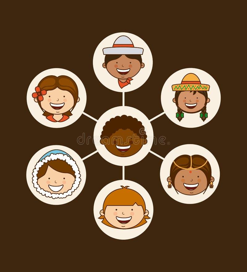 La communauté multi-ethnique illustration de vecteur