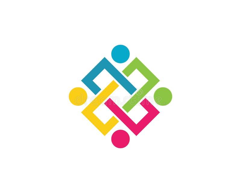 La Communauté, réseau et icône sociale illustration de vecteur