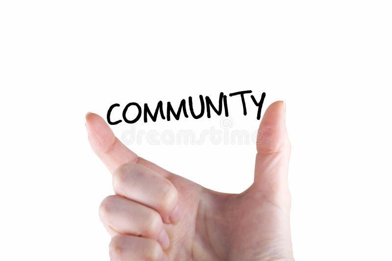 La Communauté Word photos libres de droits