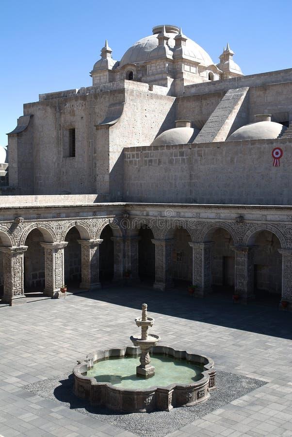 La Compania, Arequipa, Perù della chiesa immagini stock libere da diritti