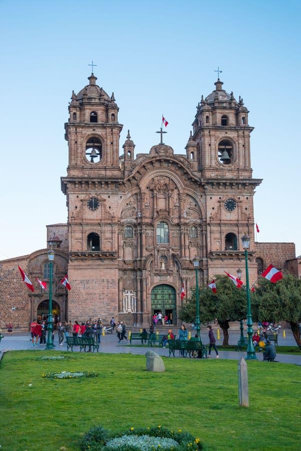 La Compania chez Plaza de Armas, Cuzco photographie stock libre de droits