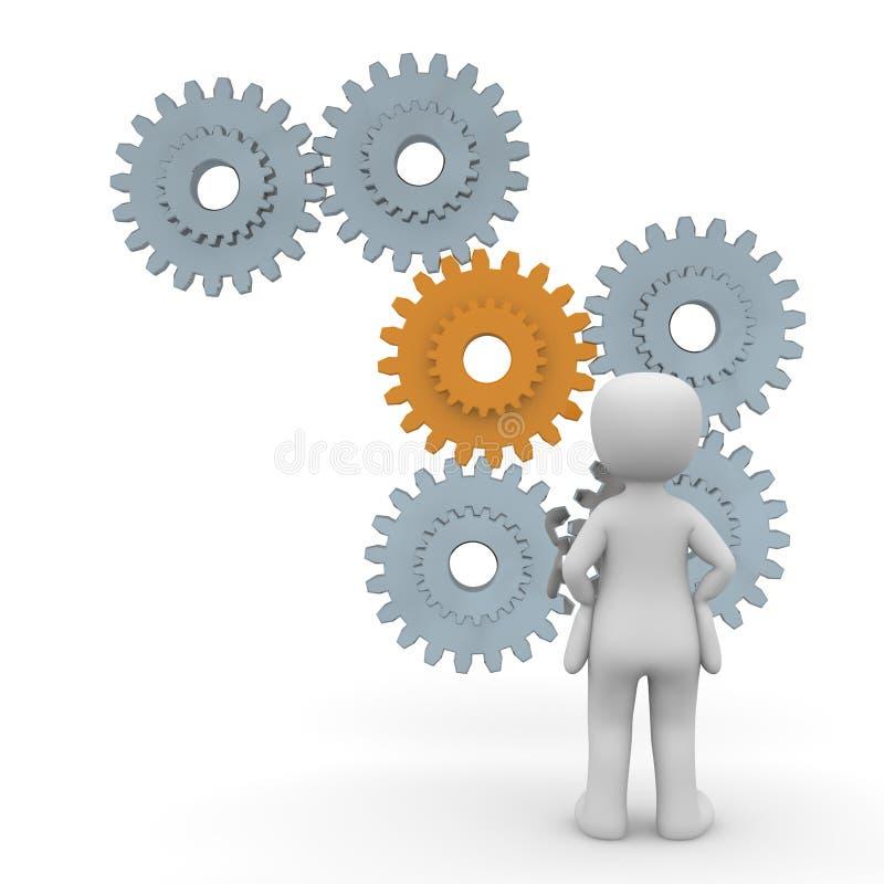 La complexité des processus illustration de vecteur