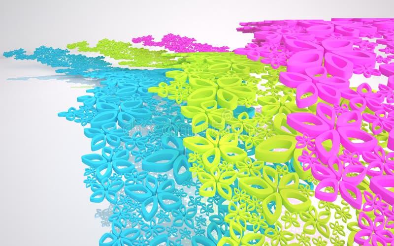 La composición abstracta dinámica stock de ilustración