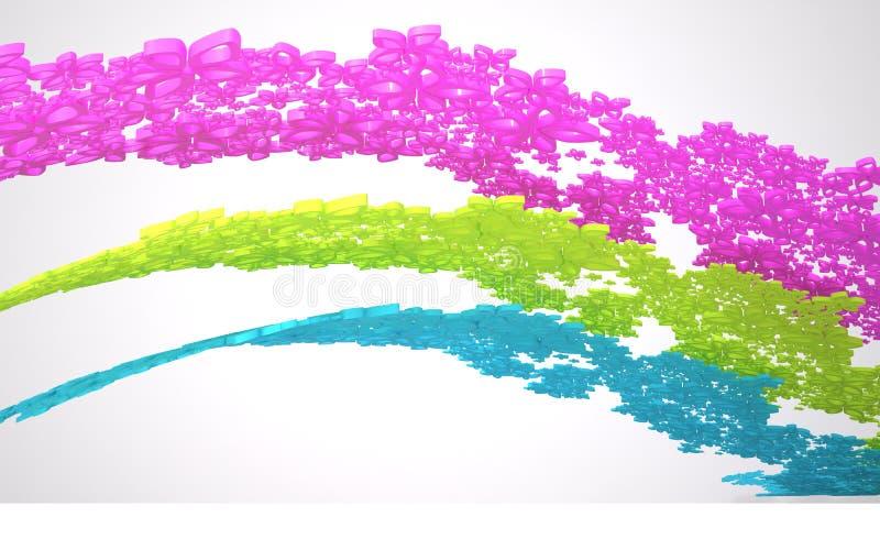 La composición abstracta dinámica ilustración del vector