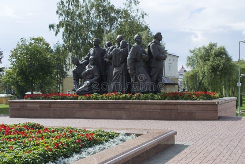 La composición escultural que consiste en los soldados, sus esposas a foto de archivo libre de regalías