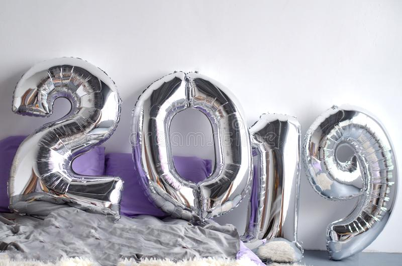 La composition de fête de nouvelle année de 2019 images libres de droits