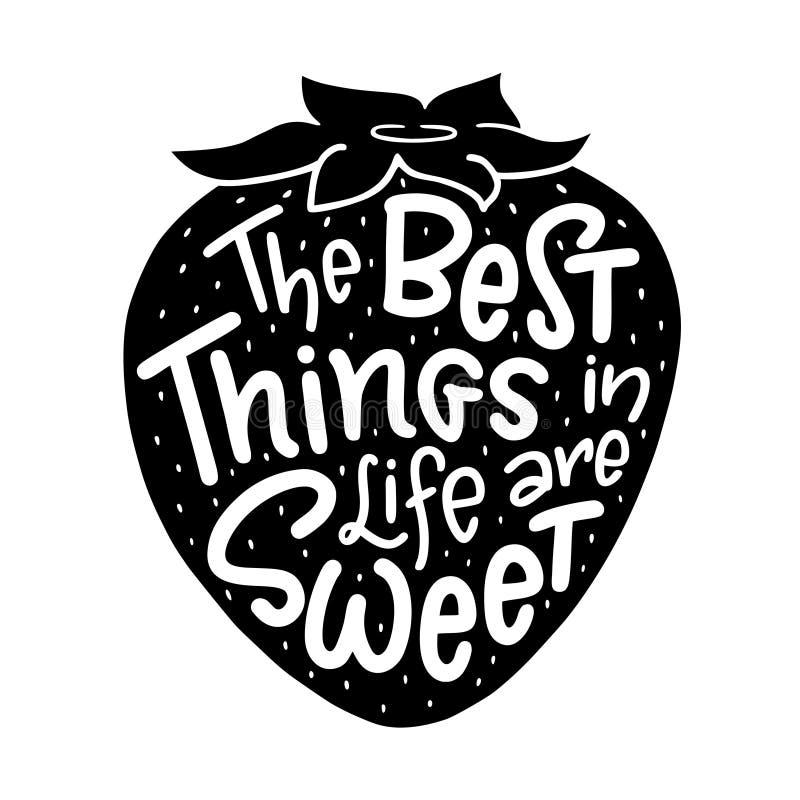La composizione dell'iscrizione della frase le migliori cose nella vita è illustrazione vettoriale