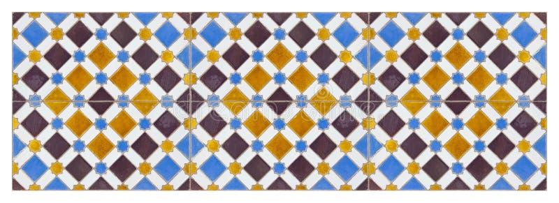 La composizione delle decorazioni spagnole tipiche con le piastrelle di ceramica colorate ha chiamato i azulejos - è una struttur immagine stock libera da diritti