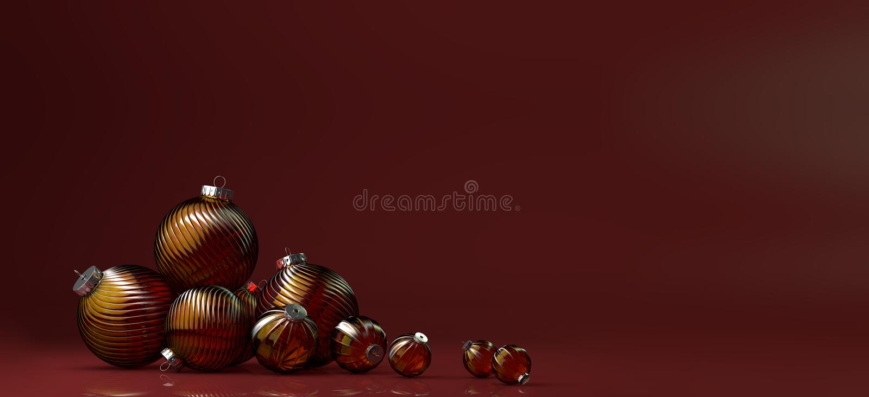 La composizione nel buon anno con il gruppo di vetro gioca la decorazione immagine stock