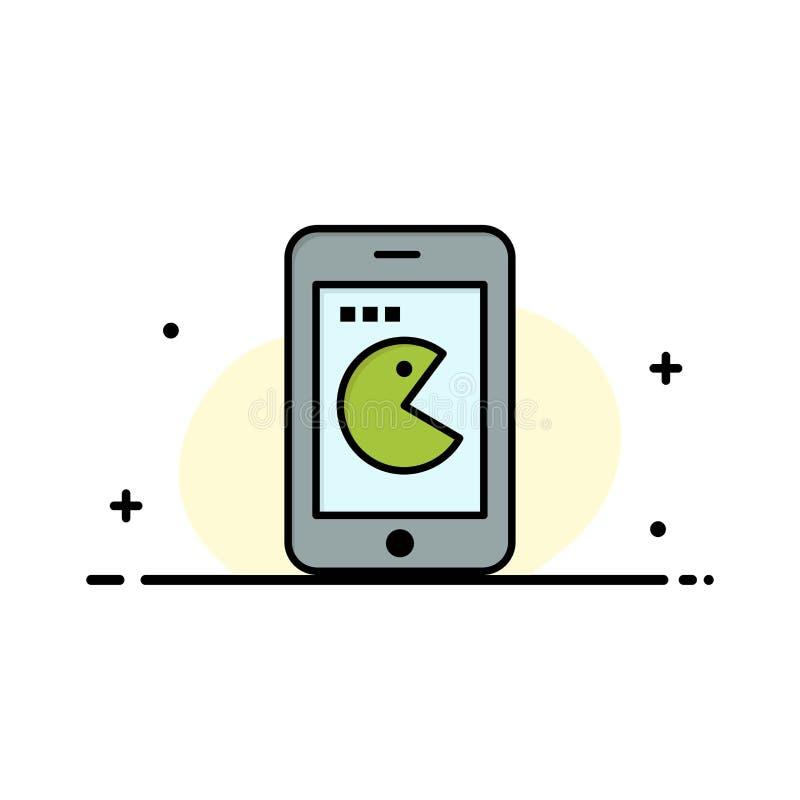 La compra, móvil, teléfono, línea plana del negocio del hardware llenó la plantilla de la bandera del vector del icono stock de ilustración