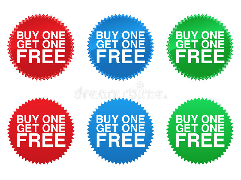 La compra una consigue a una los sellos libres libre illustration
