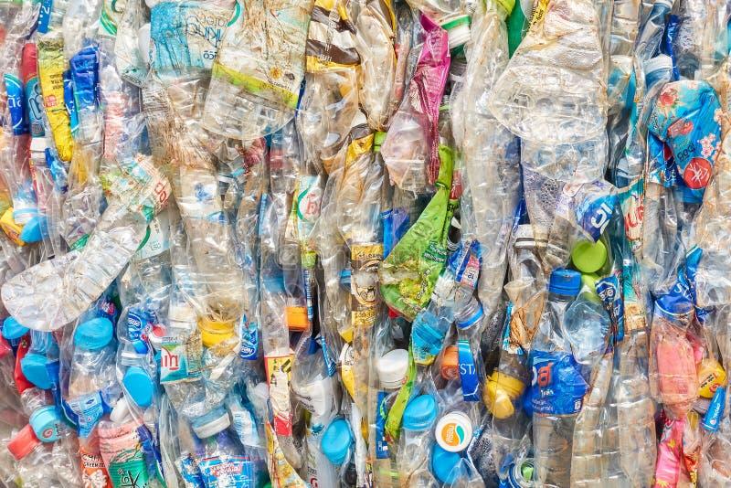 La compresa plástica para recicla foto de archivo libre de regalías