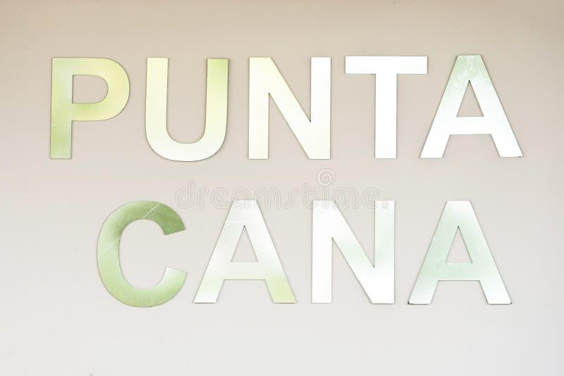La compressa con il ` di Punta Cana del ` di nome, Punta Cana, Repubblica dominicana illustrazione di stock