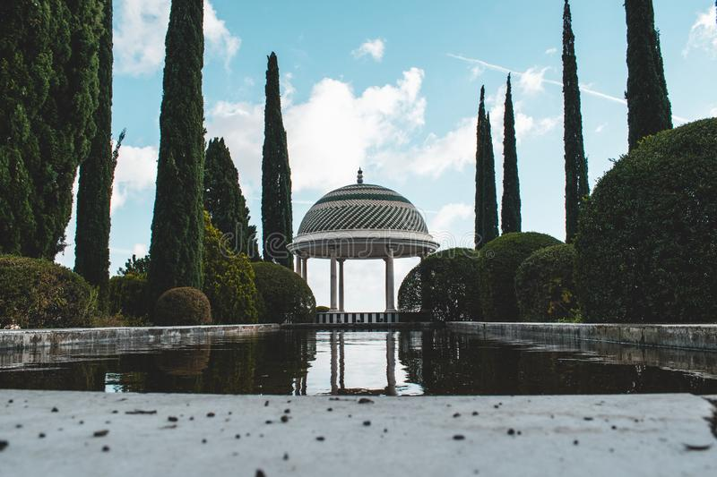 La Concepción Historical-Botanical Gardens just outside Malaga, Spain. Various trees and plants from all over the world royalty free stock photography