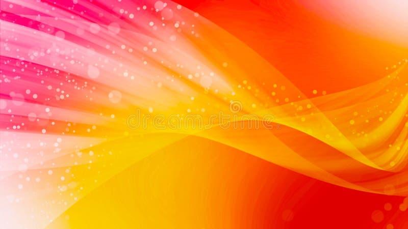La conception abstraite d'art de fond, lissent le bokeh de vague et la lumière rouge-rose illustration de vecteur
