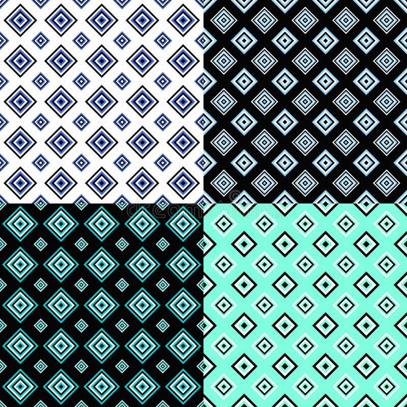 La conception carrée sans couture abstraite de fond de modèle a placé - le graphique de vecteur illustration libre de droits