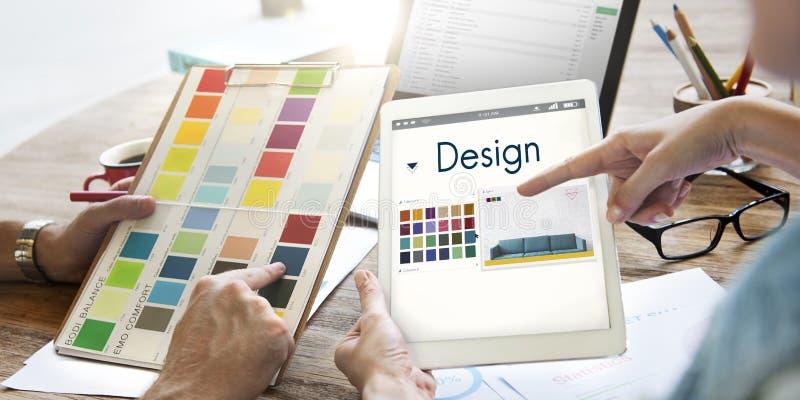 La conception choisissent le concept de graphique de palette de couleurs image stock